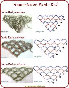 Punto red - Crochet stitch - в cool charts for crochet trellis triangles - steep to broad This Pin was discovered by Lil Ideas que mejoran tu vida Learning The Craft Of Crochet Stitches – Love Crochet & Knitting Punto Red Crochet, Poncho Au Crochet, Crochet Shawls And Wraps, Crochet Scarves, Irish Crochet, Crochet Instructions, Crochet Diagram, Crochet Chart, Crochet Motif