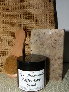 Coffee Scrub & Coffee Grit Soap Gift Set With Scrub by aunaturelle
