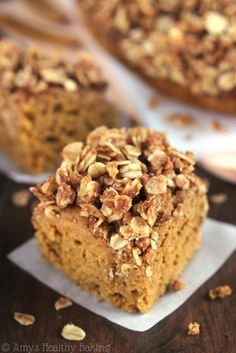 Sweet, rich, and covered in oats and cinnamon, this coffee cake is the best kind of comfort food. Get the recipe at Amy's Healthy Baking.   - CountryLiving.com
