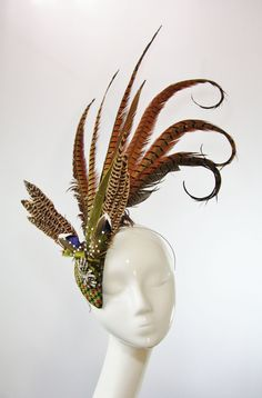 A pheasant feather fascinator commission by The Libertarian for Felicity Switch.