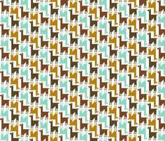 fabric by nadiahassan on Spoonflower - custom fabric Cute Pattern, Pattern Art, Pattern Design, Textures Patterns, Fabric Patterns, Llamas, Inspiring Things, Illustrations, Pretty Patterns