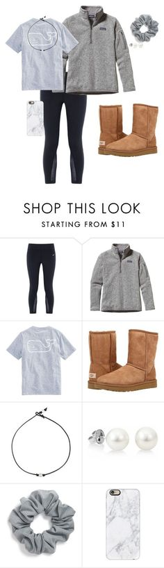 """""""outfits for school"""" by aleidakate14 on Polyvore featuring NIKE, Patagonia, Vineyard Vines, UGG, Natasha Couture and Casetify"""
