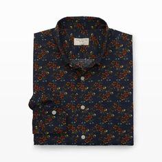 Slim-Fit Floral Print Shirt - Print Casual Shirts at Club Monaco