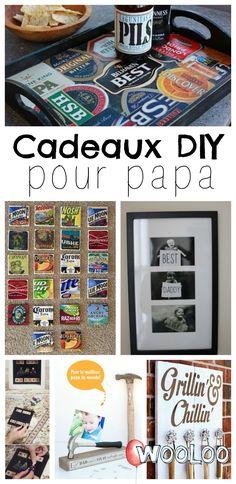 Nous avons plein d'inspirations pour fabriquer de jolis cadeaux DIY pour papa #diy #cadeau #fêtedespères #papa