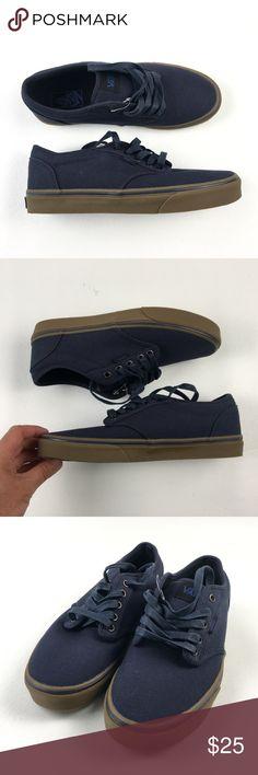 77f0faa3ec703f Vans Off the Wall Skate Shoes DR01181 8.5 NWOT Vans Mens Blue Navy Canvas  Laces Off
