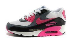 Officiel Nike Air Max 90 SJX Chaussures Nike Sportswear Pas Cher Pour Femme Gris - Noir - Blanc - Rouge