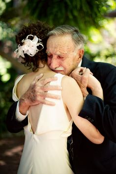 what a precious gift it is to be able to hug your grandpa on your wedding day