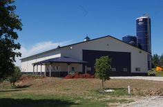 Morton Buildings storage facility in Elmwood, Nebraska.