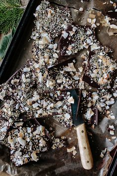 This is right up my alley. Salty spicy chocolate bark.