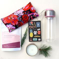 Jet lag recovery kit for the jetsetter in your life. Filled with goodies to keep hydrated, calm the mind and relax the body making it much easier to sleep and adjust to a new time zone.