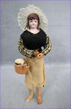German Bisque Doll Original French Fisherfolk Costume