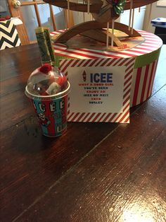 My daughter loves ICEE's so I thought this was pretty original! Elf 2, Shelf Ideas, Christmas Elf, Daughter Love, Holidays And Events, Elf On The Shelf, Jesus Christ, Cool Girl, Happy Birthday