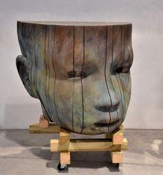 darksilenceinsuburbia:  Jesús Curiá: Big Head. Bronze.