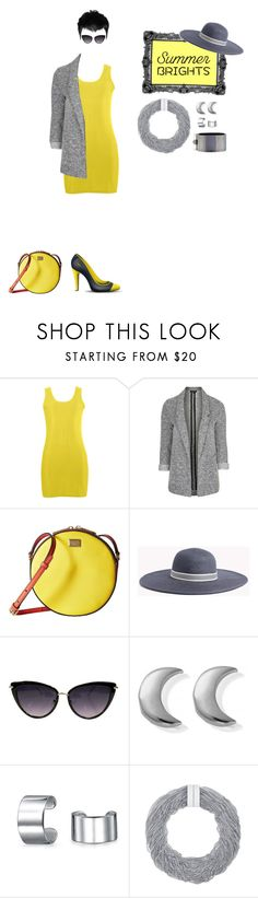 """""""Bright Yellow & Grey   Summer Brights"""" by silkester ❤ liked on Polyvore featuring Topshop, Dolce&Gabbana, ChloBo, Bling Jewelry, Bex Rox, Reed Krakoff and summerbrights"""