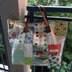 Tilda bag - works great with scraps, fat quarters or layer cakes! Fabric is Purebred by Erin Michael. Free pattern.
