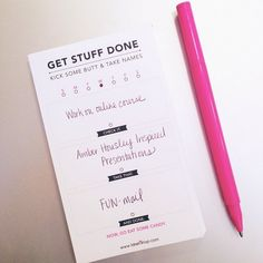 Daily Task List Mini Notepad by @idiehdesign  http://idiehshop.com/shop/daily-task-list-mini-notepad/