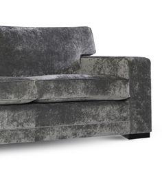 Boxer sofa bed by Declor in grey velvet