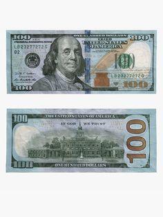 """100 Dollar Bill - Money"" Photographic Print by rocklanone | Redbubble Fake Dollar Bill, Dollar Bill Origami, Money Origami, Money Template, Id Card Template, Tag Templates, Fake Money Printable, Money Notes, Dollar Money"