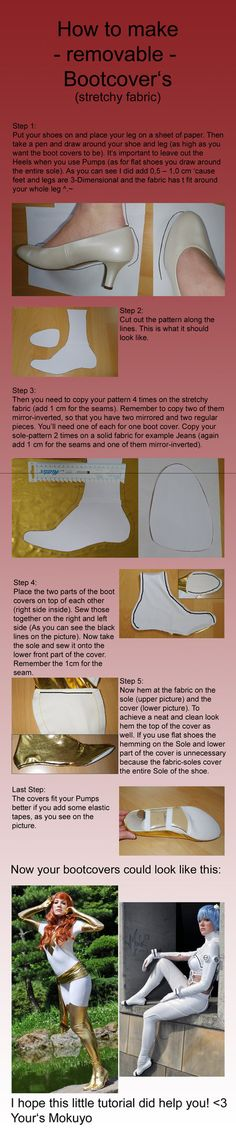 How to make Bootcovers Part 2 of 2 - removable by Mokuyo on DeviantArt