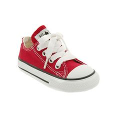 Converse Chuck Taylor Low Top Sneaker (Baby, Walker & Toddler) ($27) ❤ liked on Polyvore