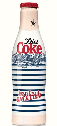 Jean Paul Gaultier for Diet Coke/I don't drink soda. But this bottle is just so cool not to repin.