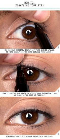 The Importance Of Tightlining | Mascara Tips & Tricks, check it out at http://makeuptutorials.com/mascara-tips-and-tricks-makeup-tutorials