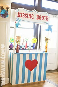 """Kissing Booth   donate and get your picture taken!  """"our kisses made a difference""""?"""