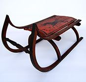 Antique Sleds | Original Paint Decorated Antique American Sled with Full-Bodied ...