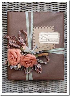 ✂ That's a Wrap ✂ diy ideas for gift packaging and wrapped presents - https://www.etsy.com/listing/196772052/harvest-fall-autumn-scrapbook-crafts?ref=shop_home_active_9