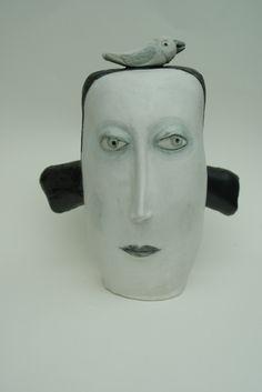 hand built ceramic head  esta mcloed