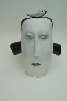 hand built ceramic head