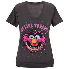 ''Me Like to Party'' Animal Tee for Women