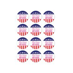 """As part of the amendment, it has been written for U.S citizens the right to vote. With these """"My Voice. My Vote"""" stickers, they speak volume, and besides, Importance Of Voting, Party Express, Vote Sticker, Right To Vote, United We Stand, Patriotic Party, I Voted, Party Stores, Memory Books"""