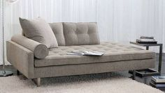 Vioski Chicago Lounge - Double Back Deep - Clean tufting and a bolster armrest come together in this modern interpretation of the classic sofa, bringing a sophisticated style and comfort to any room. Chaise Lounges, Lounge Sofa, Sectional Sofa, Sofa Design, Canapé Design, Deep Seated Sofa, Deep Sofa, Divan Sofa, Muebles Living