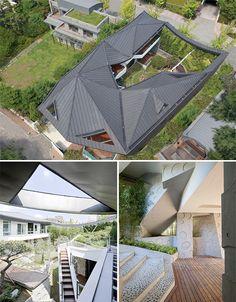 Modern Secret Garden House Features Private Courtyard