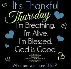 Thankful Thursday..