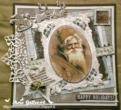 De kaarten van ons Mam: ...Kerstkaart week 43...