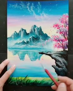 Malerei-tutorials Great art by (Douyin) Acrylic Painting Ideas acrylic painting ideas Art Döuyin Great Malereitutorials Acrylic Painting Lessons, Painting Videos, Acrylic Art, Easy Acrylic Paintings, Landscape Paintings, Watercolor Paintings, Watercolor Artists, Gouache Painting, Spray Painting