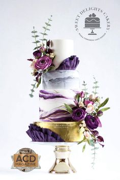 Indescribable Your Wedding Cakes Ideas. Exhilarating Your Wedding Cakes Ideas. Purple Cakes, Purple Wedding Cakes, Cool Wedding Cakes, Beautiful Wedding Cakes, Wedding Cake Designs, Beautiful Cakes, Wedding Flowers, Amazing Cakes, Red Velvet Wedding Cake
