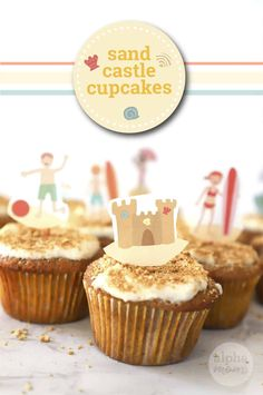 Beachy Fun and Sandcastle Cupcakes by Brenda Ponnay for @alphamom.com