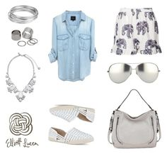 Silver & White by elliottlucca on Polyvore featuring Missguided, Kate Spade, Worthington, Pieces and Linda Farrow