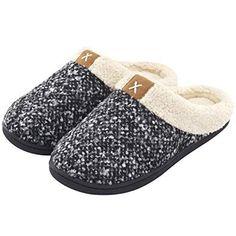 fcb32b9287e Women s Cozy Memory Foam Slippers Fuzzy Wool-Like Plush Fleece Lined House  Shoes w Indoor Outdoor Anti-Skid Rubber Sole nike shoes