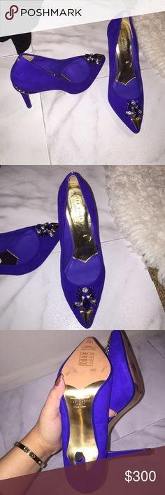 Ted baker London Ted baker London in style Adawle. Gorgeous royal blue 👑 . These are sold out everywhere .  Brand new bought it in Italy 🇮🇹. Will fit us 6 to 6.5 Ted Baker Shoes Heels