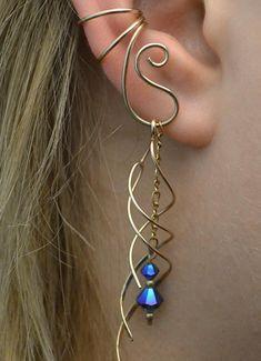 Ear Jewelry, Jewelery, Fine Jewelry, Women Jewelry, Jewelry Making, Boho Jewelry, Piercing Conch, Ear Piercings, Ear Cuff Piercing