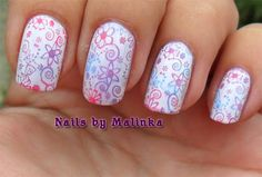 Nails by Malinka: Multi color Big SdP B