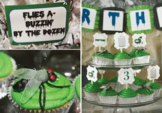 trash-truck-birthday-party-cupcake-display-flies-labels