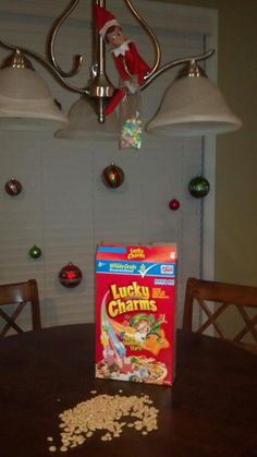 Elf stole all the marshmallows from the Lucky Charms!