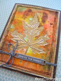 Paula Cheney: Layered Leaf Card