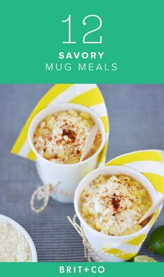 12 Savory Mug Meals That Require *Little* Clean-Up via Brit + Co