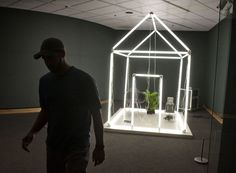 Osman Khan's 'House' is one of the sixteen works featured in Meijer Gardens' ArtPrize exhibition, 'Highly Recommended: Emerging Sculptors.' Photo taken Tuesday, September 16, 2014.   (Chris Clark   MLive.com)